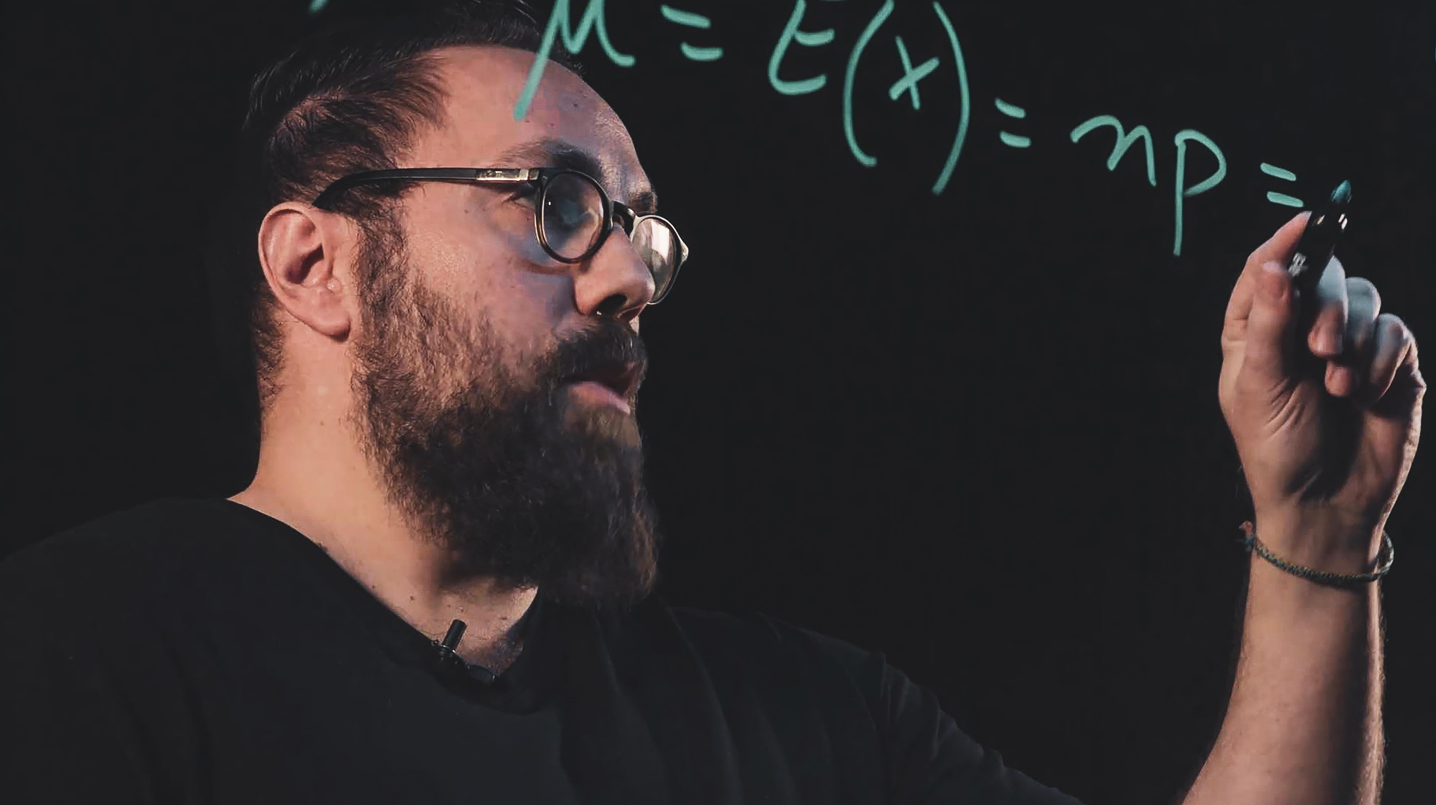 Démonstration mathématique sur le lightboard